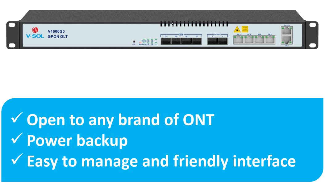 GPON OLT 4 port | OLT GPON | V-SOLUTION, Better Solution