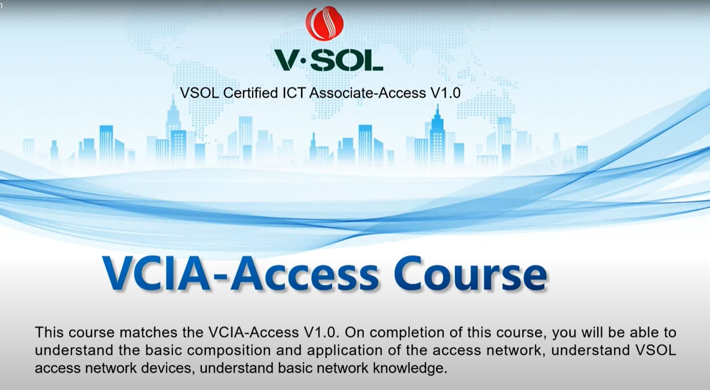 Please feel free to join in our online VCIA-Access Course